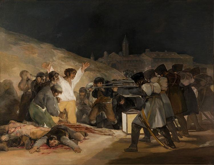 """La fucilazione """"Il 3 Maggio 1808"""" di Francisco Goya"""