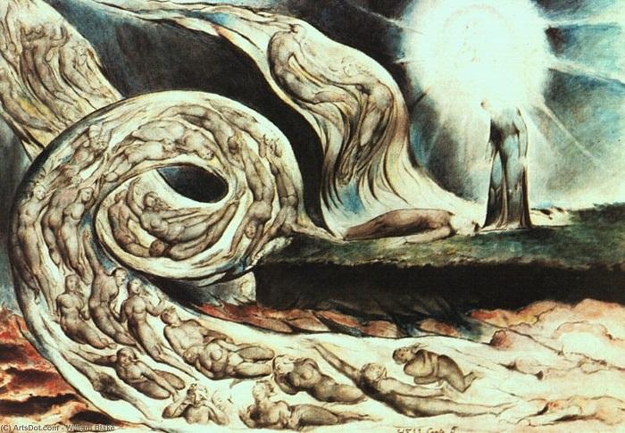"""""""Il vortice degli amanti - Inferno"""" di William Blake"""