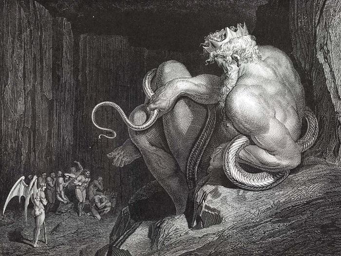 """Minosse, re di Creta - Inferno"" di Gustave Dorè"