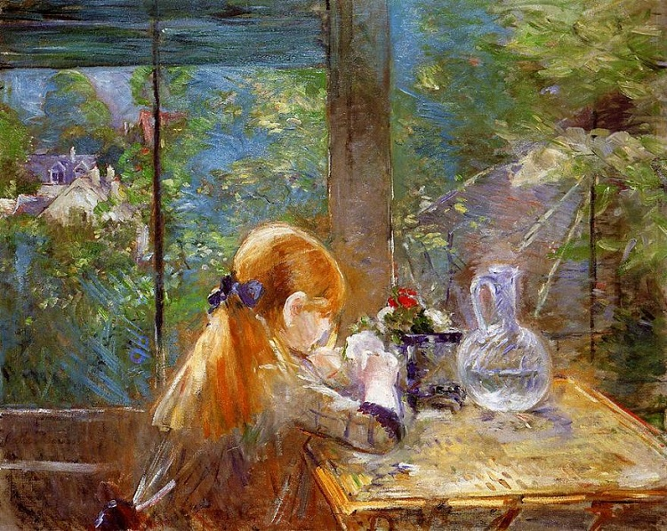 """Sulla veranda"" di Berthe Morisot"