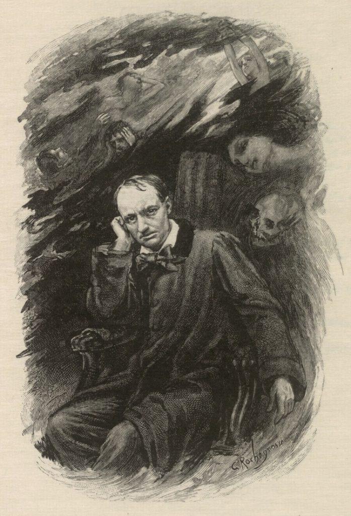 """""""Ritratto di Charles Baudelaire"""" di Georges Rochegrosse e Eugène Decisy"""