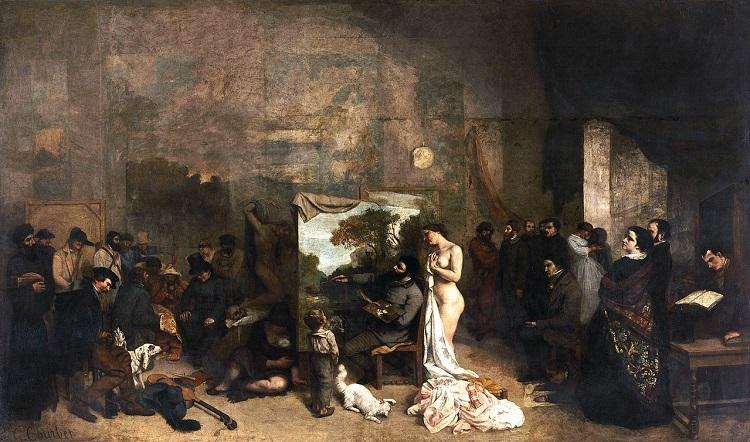 """""""L'atelier dell'artista"""" di Courbet"""
