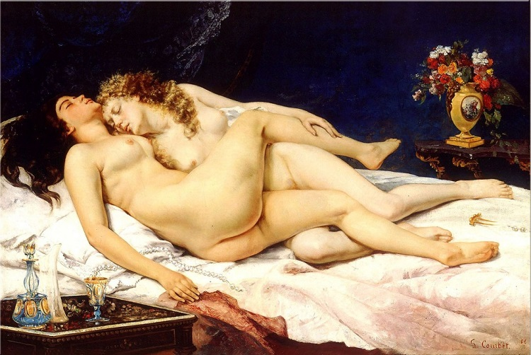 """""""Il Sonno"""" Gustave Courbet. Ispirato da """"I Fiori del Male"""" di Charles Baudelaire"""