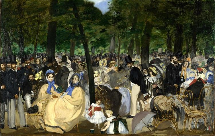 """""""Musica alle Tuileries"""" di Manet"""
