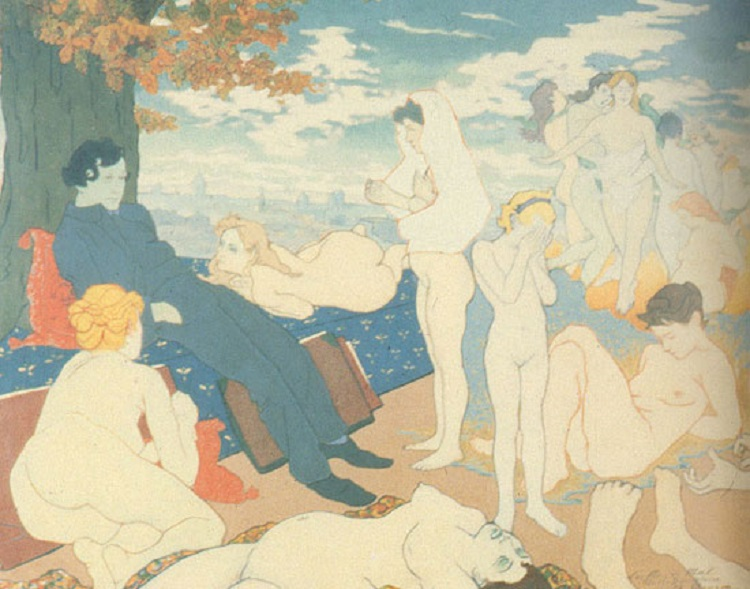 """""""The Dawn of of the Dream, or Les Fleurs du Mal"""" di Charles Maurin. Ispirato da Charles Baudelaire"""