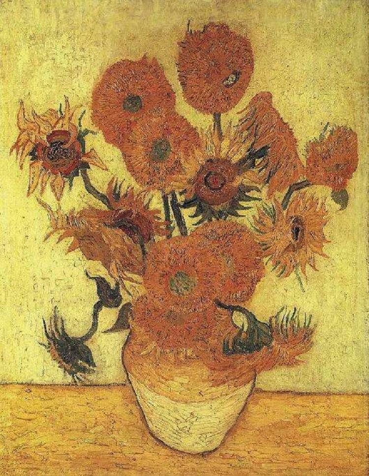 """""""Vaso con quindici girasoli"""" 1888-1889"""