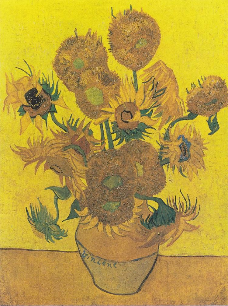 """""""Vaso con quindici girasoli"""" 1889"""