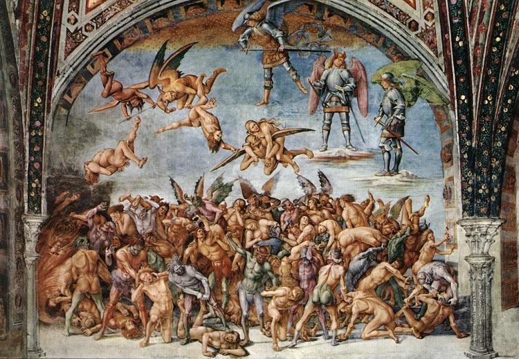 """""""Giudizio Universale"""" di Luca Signorelli.""""Dannati all'inferno"""" o """"Chiamata all'Inferno"""""""
