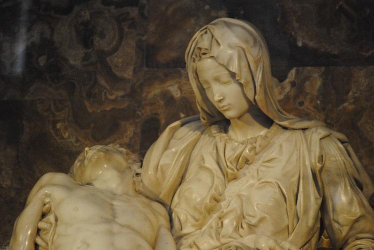 La Vergine giovane. Dettaglio
