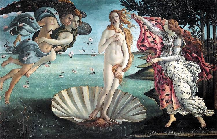 """La """"Nascita di Venere"""" di Botticelli"""