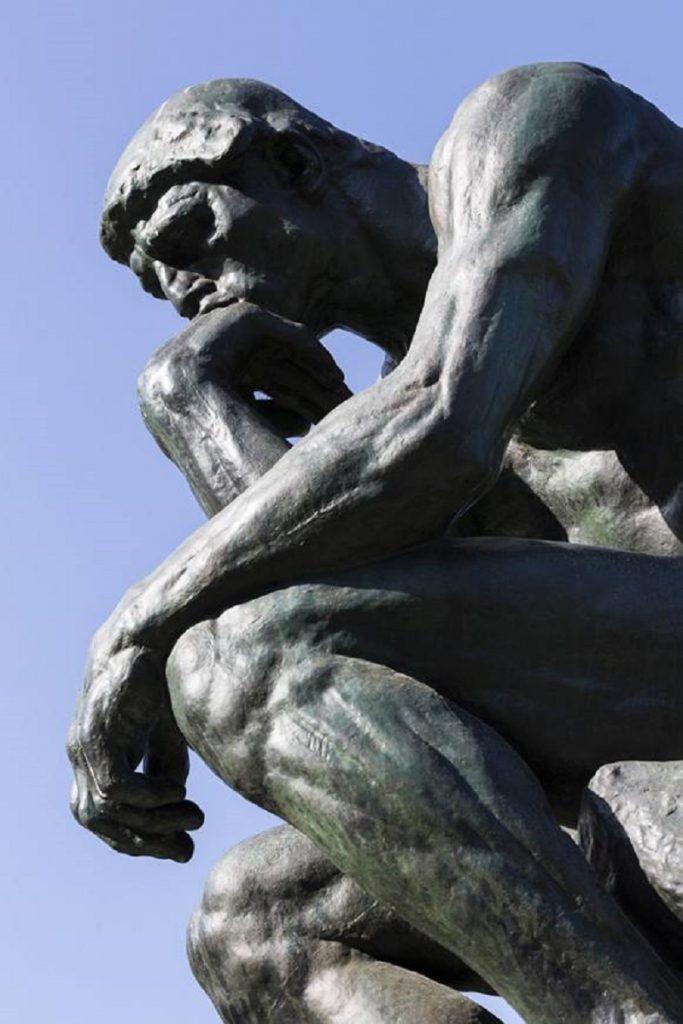 """""""Il Pensatore"""" di Rodin. Laterale"""