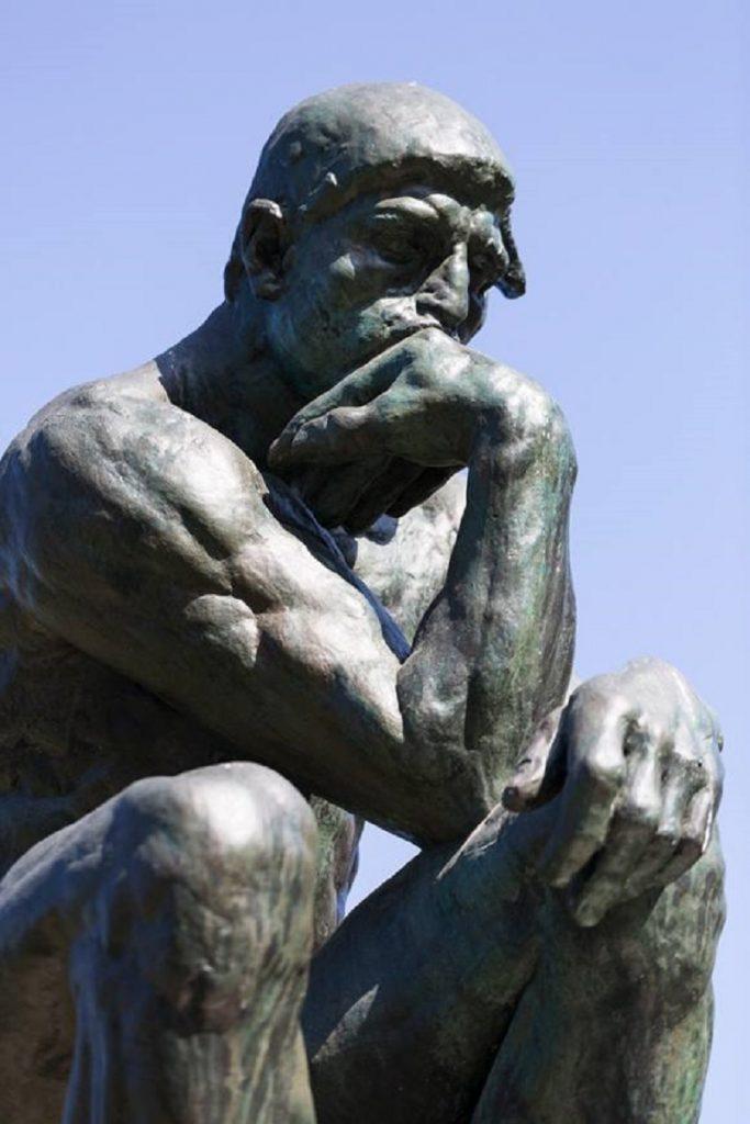 """""""Il Pensatore"""" di Rodin. Volto"""
