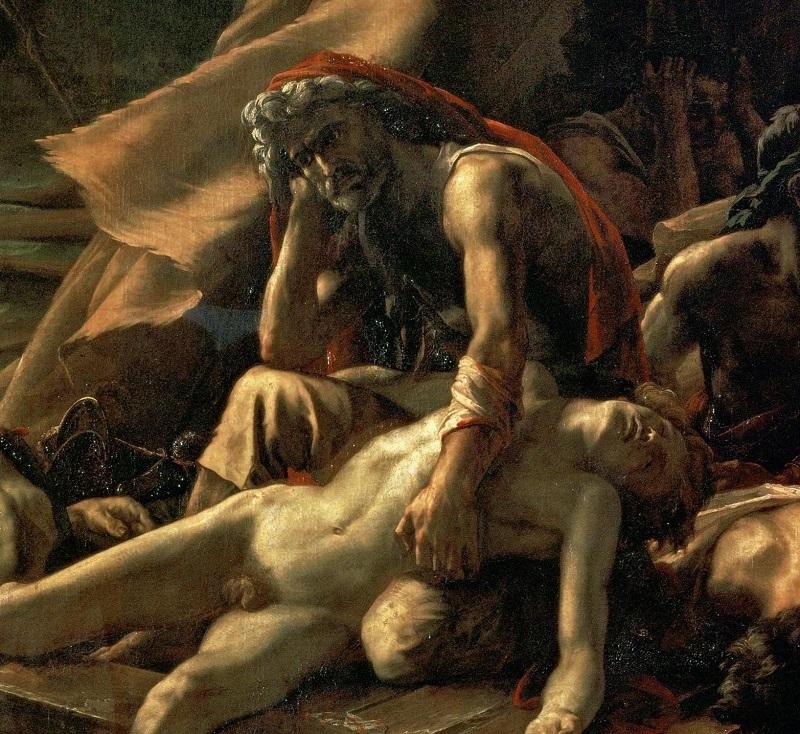 """""""La zattera della Medusa"""" di Théodore Géricault. Ugolino della Gherardesca o Eugène Delacroix"""