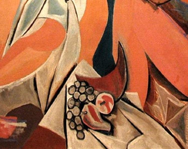 Les Demoiselles d'Avignon di Picasso. Dettaglio