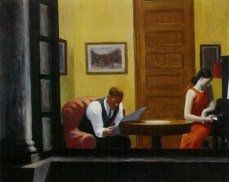 """Room in New York"" di Edward Hopper"