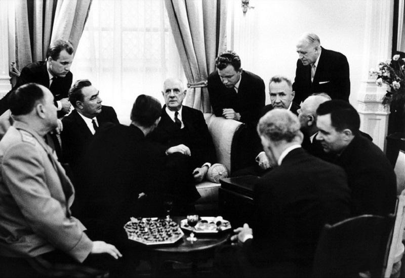 French president De Gaulle di Elliott Erwitt