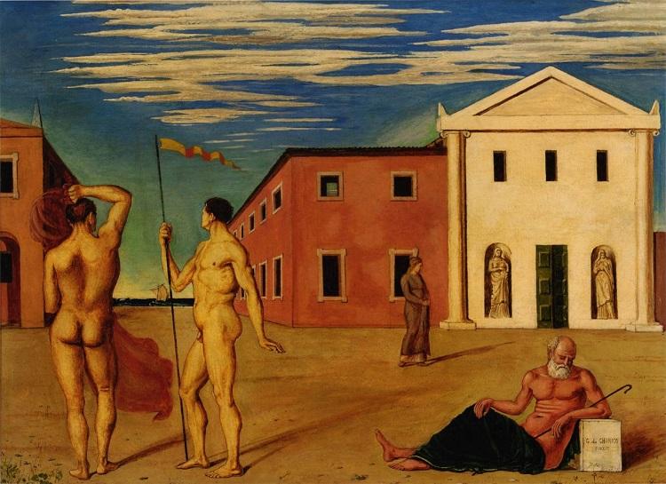 """""""La partenza degli Argonauti"""" di Giorgio De Chirico"""