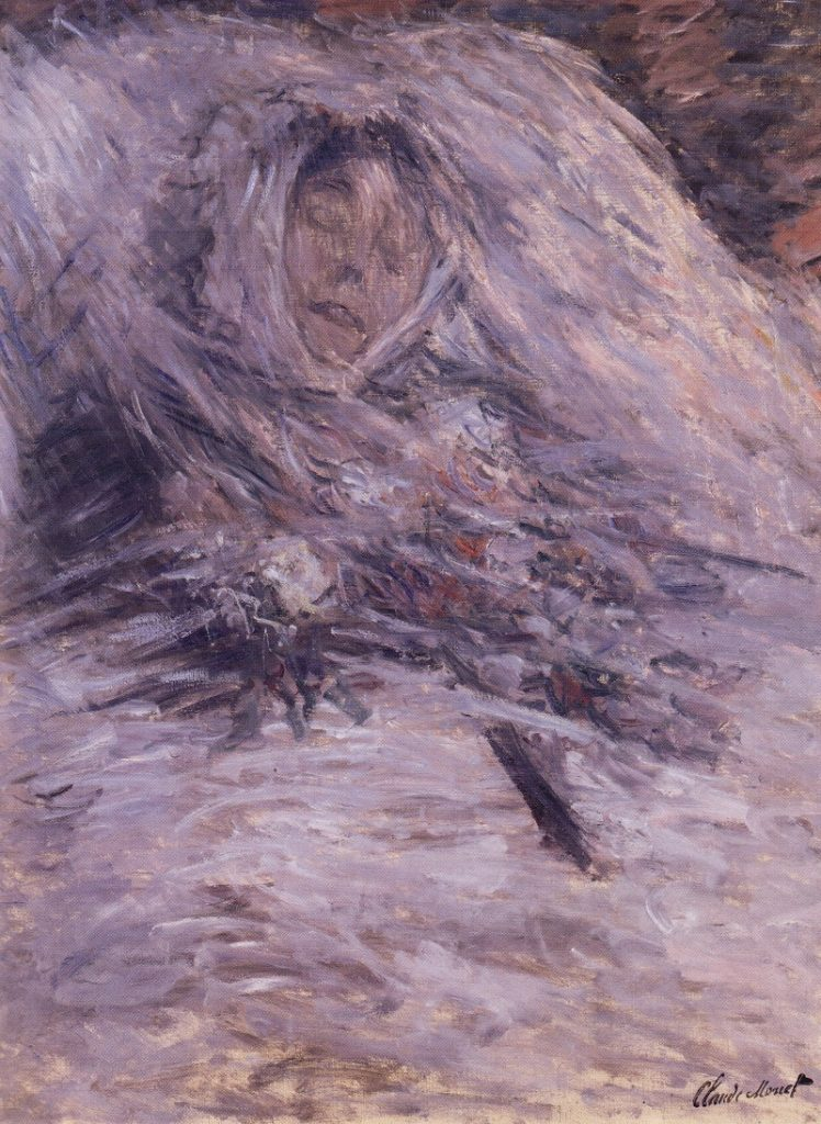 """""""Camille Monet sul letto di morte"""" di Claude Monet"""