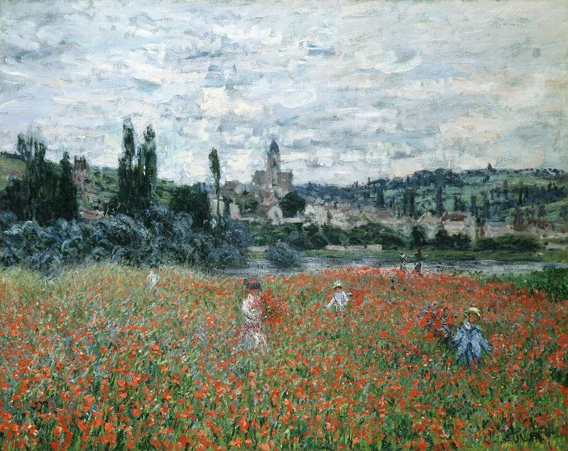"""Campo di papaveri a Vetheuil"" di Claude Monet"