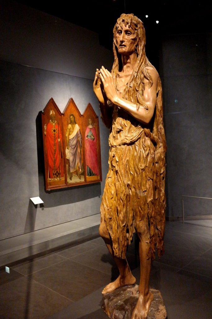 La Maddalena penitente di Donatello. Scultura in legno