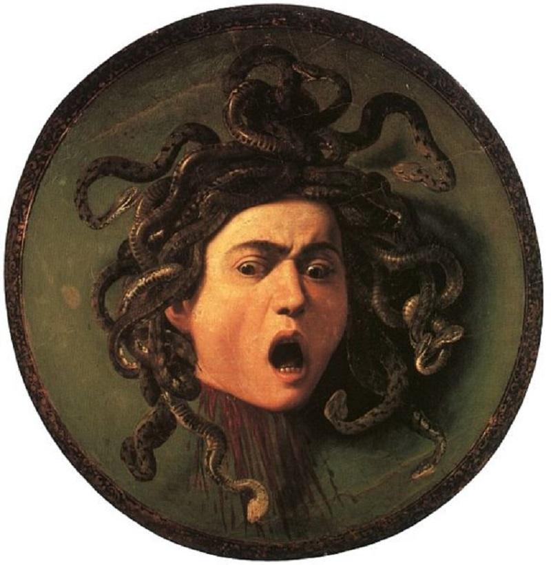 Scudo con la testa di Medusa di Caravaggio