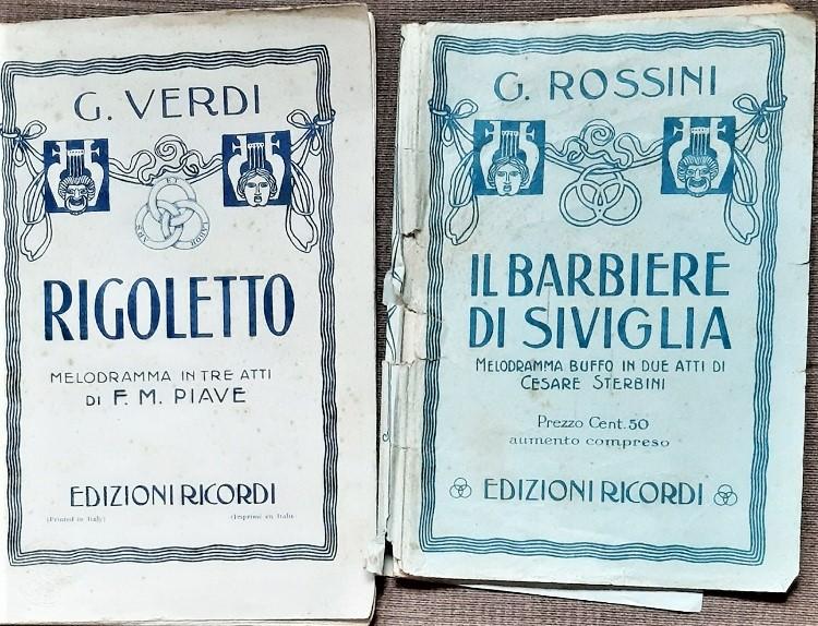 Libretti d'opera. Rigoletto e Barbiere di Siviglia
