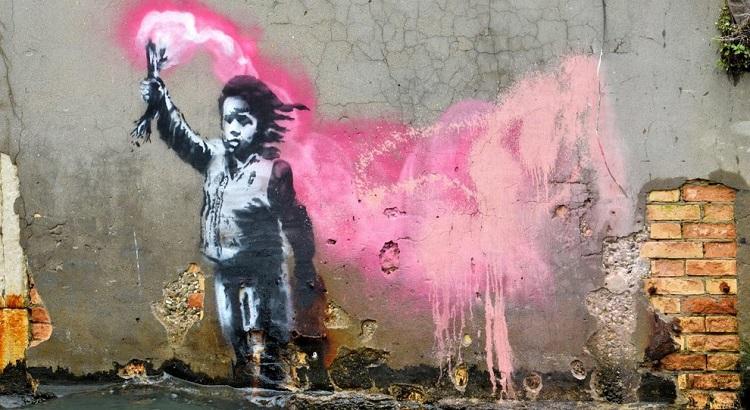 """Naufrago bambino"" di Banksy"