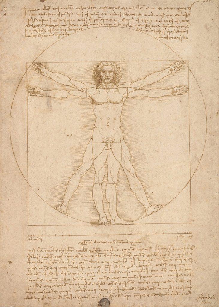 """L'""""Uomo Vitruviano"""" di Leonardo da Vinci"""