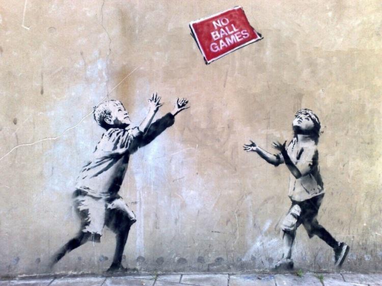 """""""No ball Games"""" Street Art"""