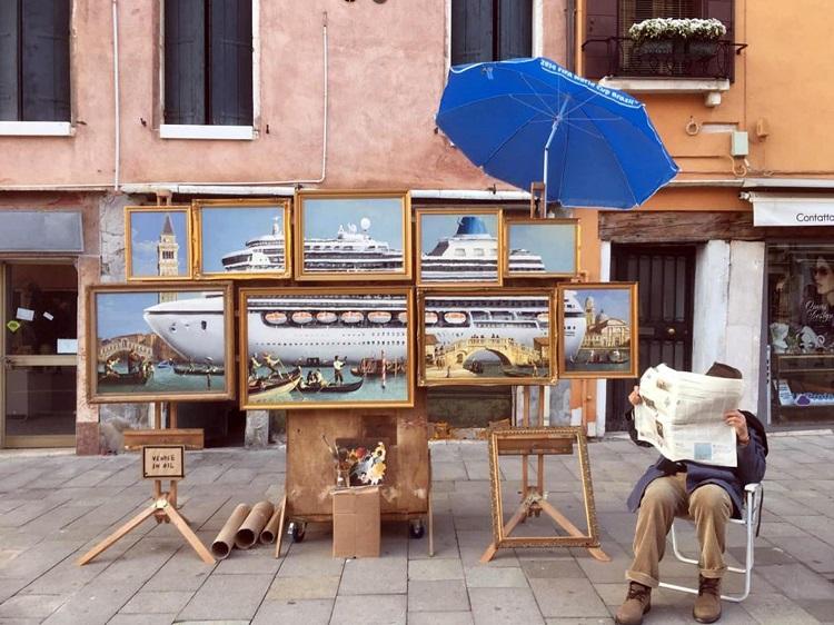 """""""Venice in Oil"""" di Banksy"""