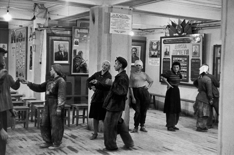 SOVIET UNION. Russia. Moscow. Canteen for workers