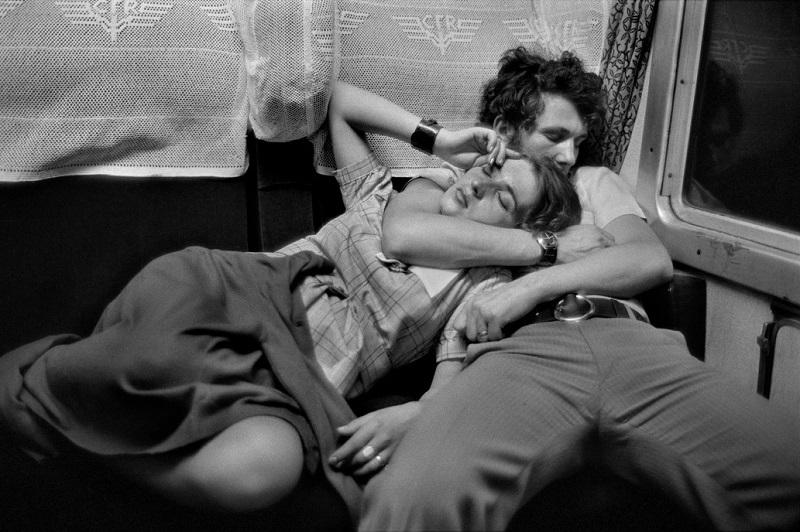 Henri Cartier-Bresson. ROMANIA. In a train. 1975.
