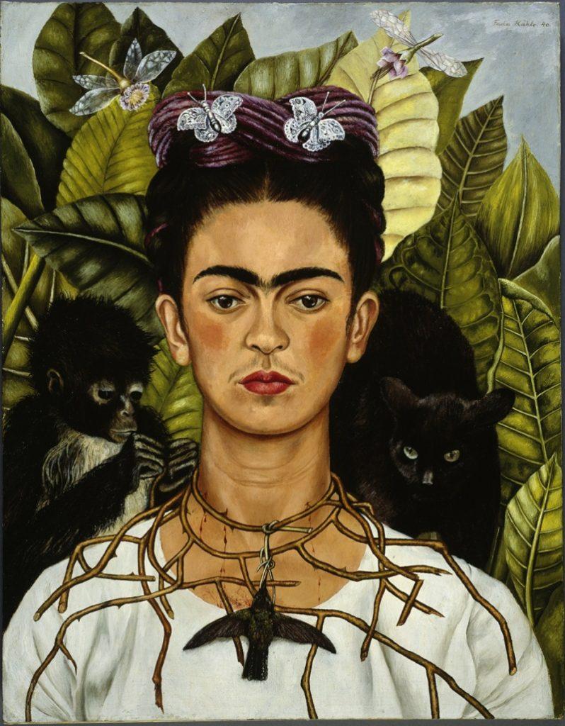 Autoritratto con collana di spine di Frida Kahlo. Autoritratti