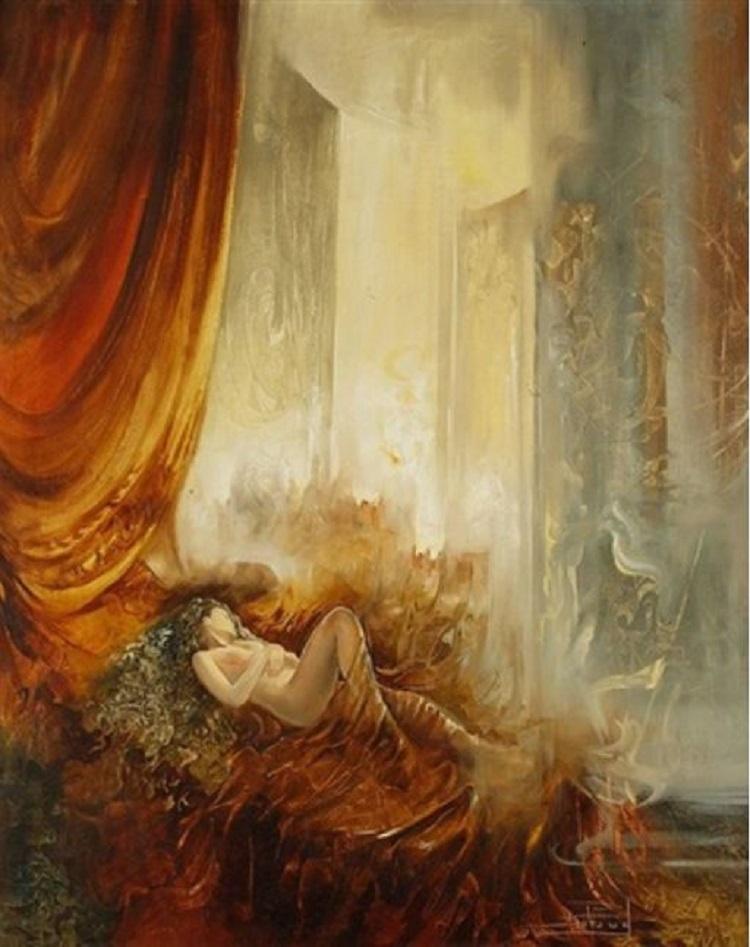Femme etendue di Roger Suraud