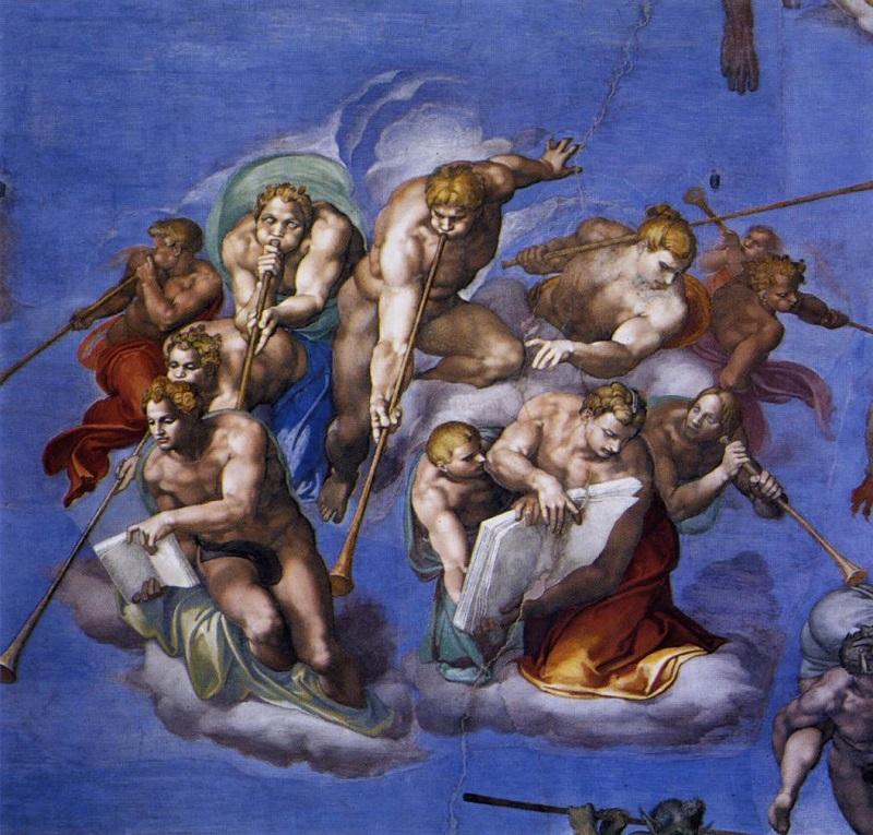 Dettagli affresco. Cappella Sistina