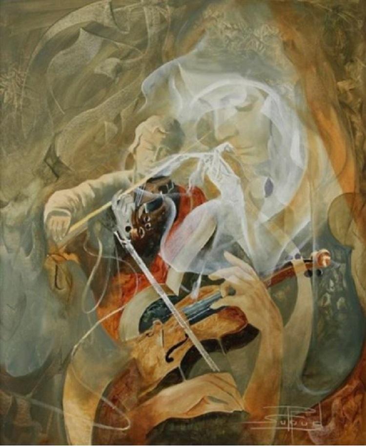 Violonistes et danseuse