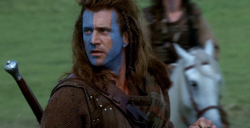 William Wallace in Braveheart di Mel Gibson
