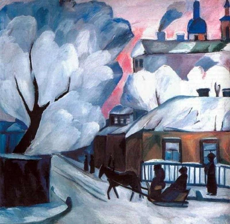 """Arte russa delle Avanguardie. """"Inverno a Mosca"""" di Anna Goncharova"""