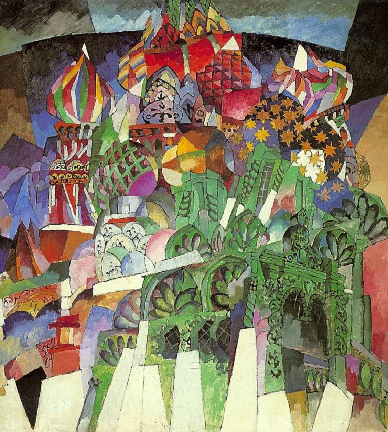 """La Mosca dei pittori russi. """"La cattedrale di San Basilio"""" di Aristarch Lentulov"""