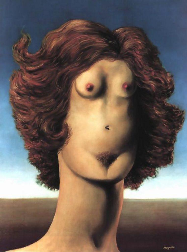 """Lo stupro"" di René Magritte"