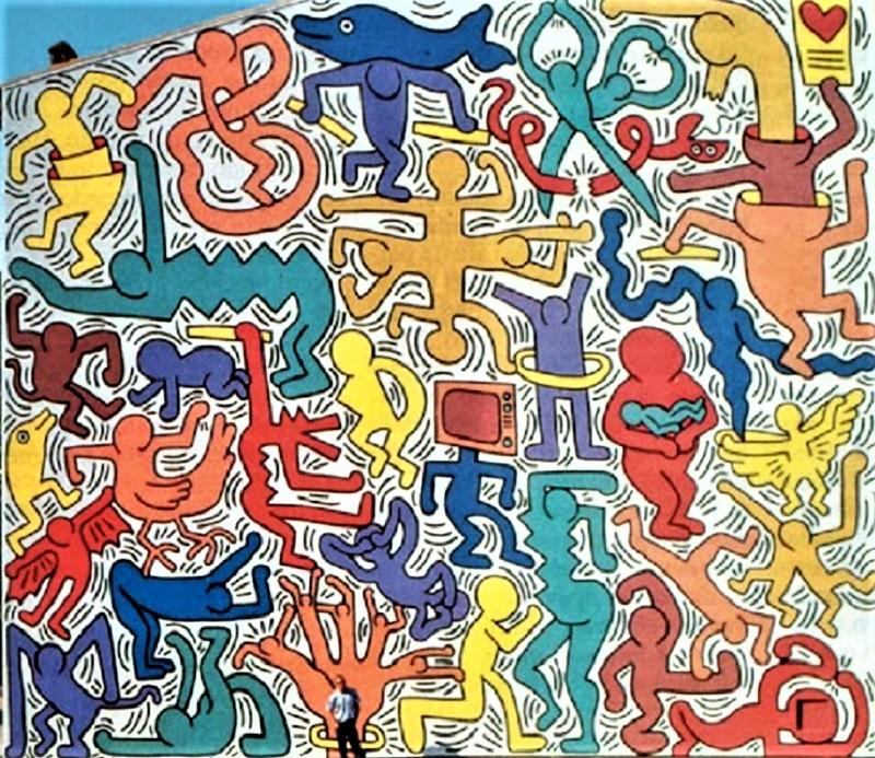 """""""Tuttomondo"""" di Keith Haring a Pisa"""